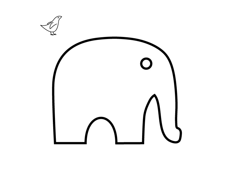 Elephant Template For Sewing Elephant Sewing Patterns